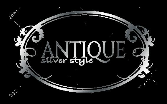 Antique silver style logo